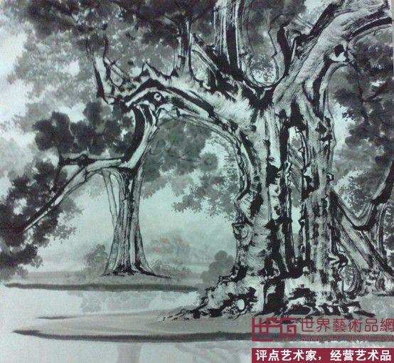 罗清元-罗清元新榕树国画(已售)-淘宝-名人字画-中国